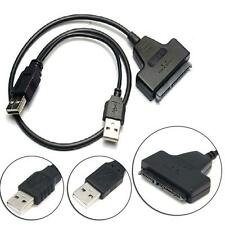 USB3.0 SATA 7+22Pin to USB2.0 Adapter Cable For 2.5 HDD Laptop Hard Disk Drive