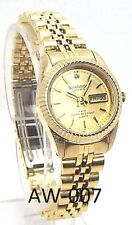 Swanson Ladies Gold-tone, Gold- Dial 01 Sapphire crystals Dress Watch