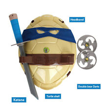 TMNT Teenage Mutant Ninja Turtles Weapons Armor Shell Set Kids Toys Blue