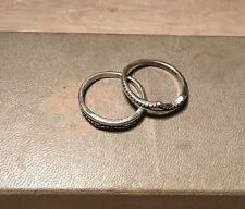 Vintage Sterling Matching Ring Guards