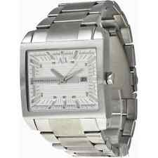 BRAND NEW ARMANI EXCHANGE AX2201 SILVER STAINLESS STEEL RECTANGLE DIAL MEN WATCH
