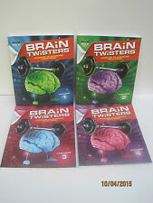 Brain Twisters:  Puzzles To Exercise Your Mind! Volumes 1-4 by PAPP Puzzles
