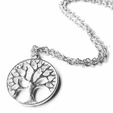 "Silver Tree of Life Pendant Necklace Jewellery Jewelry 18"" Chain Handmade New"