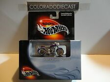 Hot Wheels 100% Black Box Purple Harley Davidson Fatboy Motorcycle