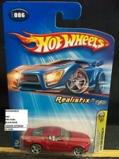HOT WHEELS 2005 FE #6 -2 FORD MUSTANG GT RED PR5 CHROM INTERIOR MAL 05C