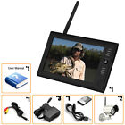 """7"""" TFT LCD 2.4G 4CH Wireless DVR Security System Monitor 2IR Night Vision Camera"""