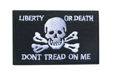 LIBERTY OR DEATH DONT TREAD ON ME HOOK & LOOP PATCH   SK  725