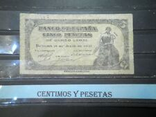 CyP Billete 5 Pesetas Burgos del 18 julio 1937