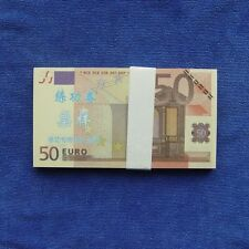 50 Euro Paper Money Notes Training Collect Learning Banknotes 100pcs