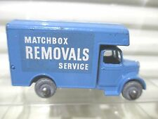 Lesney Matchbox Rare 1956 RW17A BLUE BEDFORD Removals Van Near Mint in Pvc Box