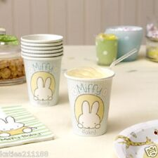 New baby shower christening party baby miffy pack of 8 paper cups