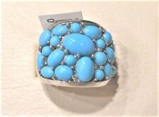Sleeping Beauty Turquoise Bold Cluster Design Sterling Ring Sz.8 NWT