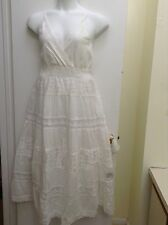 Women's Plus Size spring/summer long cotton sundress/Lace/ White/ New. 3X