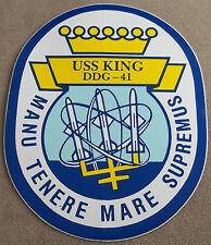 US Navy Decal / Sticker / USS King DDG-41