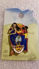 Hard Rock Cafe Pin,GUAM,Sexy Flag Landmark Girl