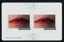 Canada 2822a Top Booklet Pane MNH Photography, Genevieve Cadieux, Lips