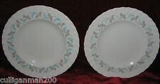 1 - Lot of 2 - Royal Crown Derby Diana Bread and Butter Plates (2016-042)