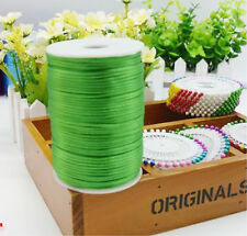 2mm Satin Silky Trim Pure Color Jewelry Beading Nylon Necklace DIY String Cord
