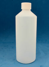 10 x 500ml Round Natural Plastic Bottles with 28mm Wadded Screw Caps