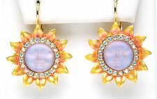KIRKS FOLLY SUNFLOWER SEAVIEW MOON LEVERBACK EARRINGS lavender moon