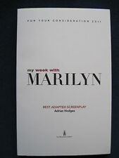 MY WEEK WITH MARILYN Screenplay 1st Appearance in Book Form