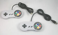 USA SELLER: New Super NES SNES Controller for PC USB LOT OF 2 PCS