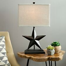 Star Table Lamp Bronze Rustic Farmhouse Country Cottage Light Fixture Home Decor