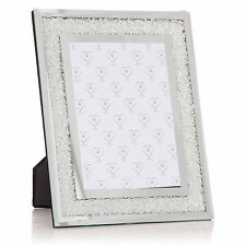New Mirrored Photo Frame filled with Swarovski Crystal Holds 10x8 Picture Modern