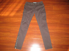 Miss Me CP1246A Cargo Color Grey Size 26 True Measurements 27 X 30 Side Zippers