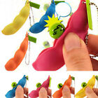 Hotsale Extrusion Pea Bean Soybean Edamame Stress Relieve Toy Keychain Keyring