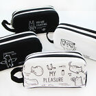 Cute Cartoon Student Pen Pencil Case Travel Brush Holder Bag Cosmetic Makeup Bag