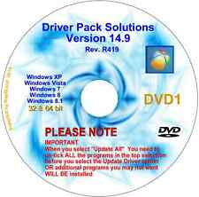 DriverPack Solutions 14.9 2 DVDs Actualización PC Drivers 32/64 Bit XP Vista 7 8