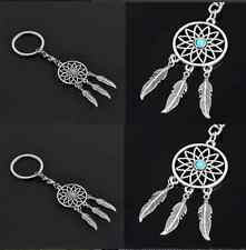 Silver Tone Key Chain Ring Feather Tassels Dream Catcher Keychain New CH