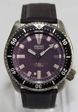 SEIKO Vintage 7002-7000 Classic Diver Purple Rain Automatic Watch Leather Strap