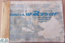 Honda manuale uso e manutenzione VFR750F