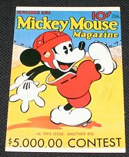 RARE VINTAGE DISNEY MICKEY MOUSE MAGAZINE POST CARD WDC-26 NOS