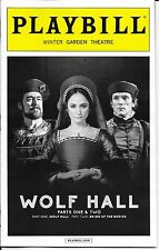 Wolf Hall Parts 1 & 2 (Bring Up the Bodies) Broadway Playbill Opening Night