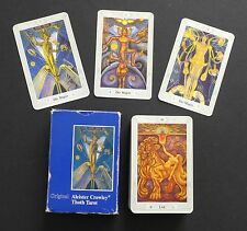 Vtg Aleister Crowley Thoth Tarot Cards Deck 3 Magi 1986 Swiss Blue Box