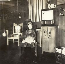 Original Vintage 40s Halloween Party RP- Costumes- Baseball Player- Old TV- 1949