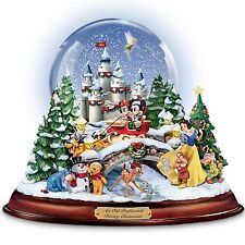 WALT DISNEY  MUSICAL LIGHT UP SNOW GLOBE TABLETOP HOLIDAY DECOR NEW