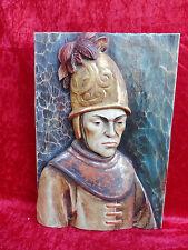 Sublime image en bois__Homme avec Casque d'or__en bois sculpté et peint__Tyrol__