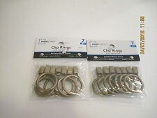 2 Packs Antique Brass Curtain Rings With Clips Window Hardware 1 Inch New
