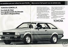 Publicité advertising 1980 (2 pages) Toyota Corolla