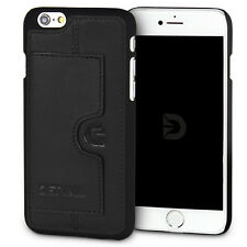Apple iPhone 6s / 6 Hülle Leder Case Back Cover Schale DETUMA® Sima Roys Schwarz