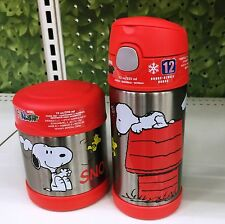 Thermos 12 oz Funtainer Bottle & 10 oz Funtainer Snack Container, Snoopy Peanuts