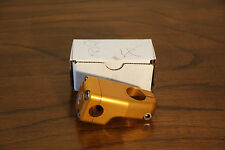 Vintage Brooklyn Machine Works BMX Bike Stem Anodized Gold BRAND NEW!