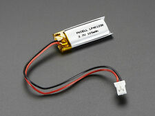 Lithium Ion Polymer 3.7v Rechargeable Battery 100mAh Electronic Projects Arduino
