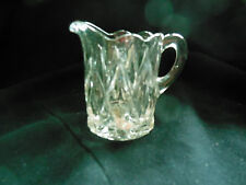 "EAPG - US Glass #15006 ""Pointed Jewel or Long Diamond"" child's creamer"