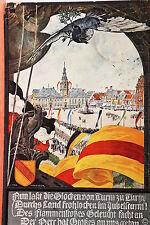16791 AK Mannheim am Rhein nach Gemälde von Max Honegger Flaggen Platz  um 1920