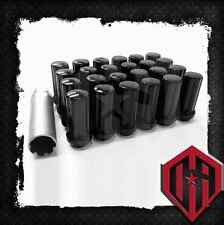 24 PC. Black Spline 14x1.5 Lug Nut Set Key Kit Chevy Silverado Dodge Ford Lugs
